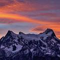 Sunset Clouds At Cerro Paine Grande #3 - Chile by Stuart Litoff