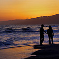 Sunset Couple by Kim Michaels
