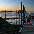 Sunset Dock by Catherine Melvin