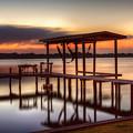 Sunset Dock by Tom Weisbrook