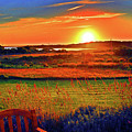 Sunset Eat Fire Spring Rd Nantucket Ma 02554 Large Format Artwork by Duncan Pearson