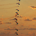 Sunset Falcons Stack Formation by MSVRVisual Rawshutterbug