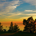 Sunset Fishing At Lake Superior by Les Palenik