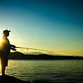 Sunset Fishing by Roxy Hurtubise