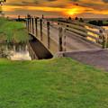 Sunset Foot Bridge by Dale Stillman