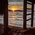 Sunset From Beneath The Pier by Mike  Herron