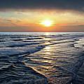 Sunset From Newport Beach Pier by Mariola Bitner