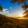 Sunset From The Blue Ridge Parkway by Jim Call