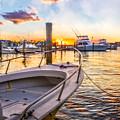 Sunset Harbor by Debra and Dave Vanderlaan