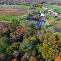 Sunset Hill Farms Indiana  by Timeless Aerial Photography LLC