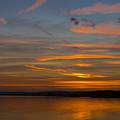 Sunset Hoo England by Chris Pickett