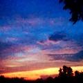 Sunset In A Deep Blue Sky Line by Debra Lynch
