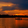 Sunset In Amazon River by HQ Photo