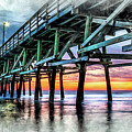 Sunset In Cherry Grove by David Smith