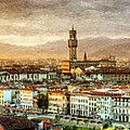 Sunset In Florence - Painting by Weston Westmoreland