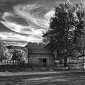 Sunset In Grafton Ghost Town by Sandra Bronstein