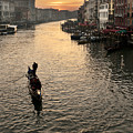 Sunset In Grand Canal by Marco Missiaja