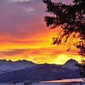 Sunset In Homer Alaska by Lori Mahaffey