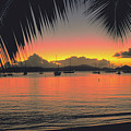 Sunset In Key West Florida by Carl Purcell