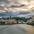 Sunset In Lucerne by James Udall