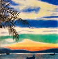 Sunset In Manuel Antonio  by Natalia Wallwork