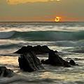 Sunset In Masua Beach by Fabiano Caddeo