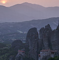 Sunset In Meteora by Brothers Beerens