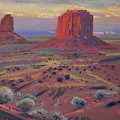 Sunset In Monument Valley by Donald Maier