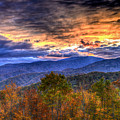 Sunset In The Smokies by Don Mercer