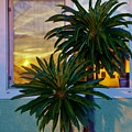 Sunset In Window 2 by Phyllis Spoor