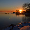 Sunset In Winter by Barbara Treaster