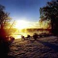 Sunset In Winter by Joshua Macneil