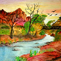 Sunset In Zion by Joanna Aud
