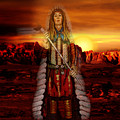 Sunset Indian Chief by Gravityx9  Designs