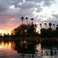 Sunset Island In Chaparral Lake Horizontal  by Heather Kirk