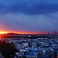 Sunset La Defense Paris France by Lawrence S Richardson Jr