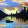 Sunset Lake by Bryon Lucas