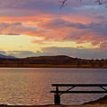 Sunset Lake Picnic Table View  by James BO  Insogna