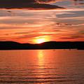 Sunset-lake Waukewan 1 by Michael Mooney