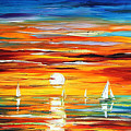 Sunset  by Leonid Afremov
