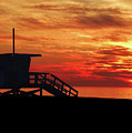 Sunset Lifeguard Station Series by Howard Dando