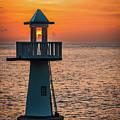 Sunset Lighthouse by Jim Cole