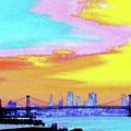 Sunset Lower Manhattan 2c5 by Ken Lerner