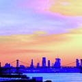 Sunset Lower Manhattan 2c2 by Ken Lerner