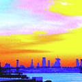 Sunset Lower Manhattan 2c3 by Ken Lerner