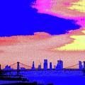 Sunset Lower Manhattan 2c7 by Ken Lerner
