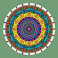 Sunset Mandala by Becky Herrera