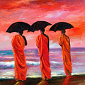 Sunset Meditation by Sally Seago