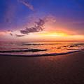 Sunset Naples Beach Florida by Hans- Juergen Leschmann