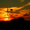 Sunset On A Windmill Jal New Mexico by Jeff Swan